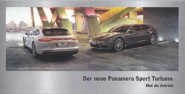 Panamera Sport Turismo brochure, 4 smaller pages, 2017, German language