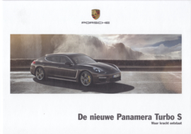 Panamera Turbo S brochure, 56 pages, 11/2013, hard covers, Dutch language
