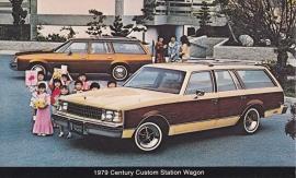 Century Custom Station Wagon, US postcard, standard size, 1979