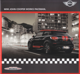 John Cooper Works Paceman brochure, 4 pages, Dutch language, 11/2012