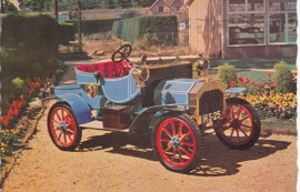 Brushmobile 6 HP 1904, regular size postcard, Dutch (3 languages)