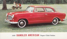 American Super Club Sedan, US postcard, standard size, 1959, # AM-59-7019A