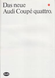 quattro Coupé brochure, 8 pages, 09/1984, German language