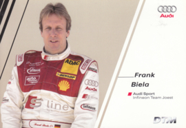 DTM racing driver Frank Biela, unsigned postcard 2004 season, German language
