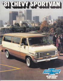 Chevy Sportvan, 8 pages, 07/1980, English language, USA