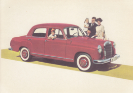 190 D Sedan, A6-size, German card with 4 languages, 1960