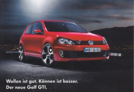 Golf GTi postcard,  A6-size, German language, about 2010