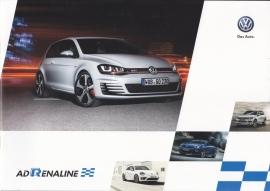 Sports models & R-Line brochure, A4-size, 32 pages, Dutch language, 07/2013