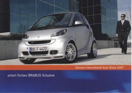 Smart Fortwo Brabus Xclusive, A6-size postcard, Geneva 2007