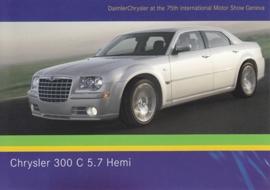 Chrysler 300 C 5.7 Hemi, A6-size postcard, Geneva 2005