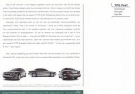 X-Type 2 liter Business Edition Plus postcard, Dutch, A5-size