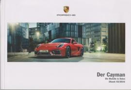 Cayman/Cayman S pricelist, 98 pages, 03/2014, German