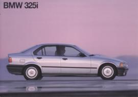 325i Sedan postcard, A6-size, English language, 1991, USA