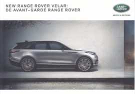 Velar intro brochure, 4 smaller pages, 2018, Dutch language
