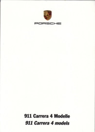 911 Carrera 4 models, A6-size set with 6 postcards in white cover, 2013, WSRC 1301 10S2 10, German