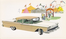 Custom 300 Tudor Sedan, US postcard, standard size, 1959