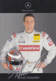 Bernd Schneider - DTM 2006 - auto gram postcard, German