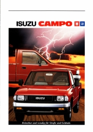 Campo Pick-up, 8 pages + specs. + prices, German language, 1989