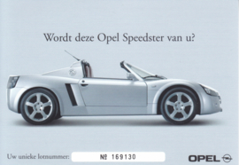 Speedster postcard, DIN A6-size, 2001, Dutch language