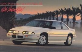 Grand Prix SE, 1989, standard-size, USA