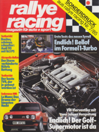 350i roadtest report Rallye Racing magazine, 6 pages, German language, 7/1985 *