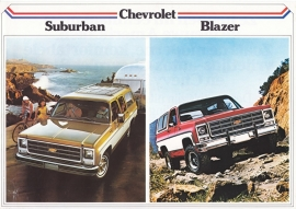 Suburban & Blazer models 1979, 2 pages, export, Dutch language