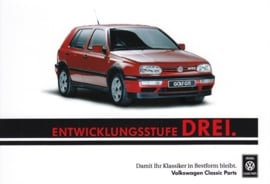 Golf GTI sammelkarte #3, A6-size postcard, German, 2016