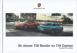 718 Boxster & Cayman brochure,  152 pages, 04/2016, hard covers, Dutch language
