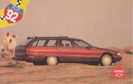 Caprice Station Wagon,  US postcard, standard size, 1992