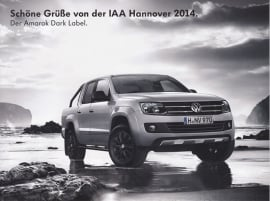 Amarok Dark Label, larger size postcard, 18 x 13,5 cm, 2014, German