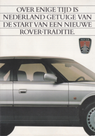 800 Sedan brochure, 6 pages, A4-size, about 1986, Dutch language