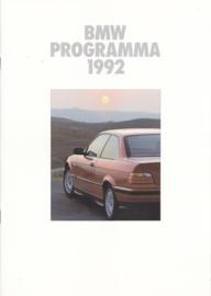 Program 1992 brochure, 26 pages, A4-size, 1/1992, Dutch language