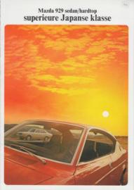929 Sedan & Hardtop brochure, 8 pages, about 1974, Dutch language