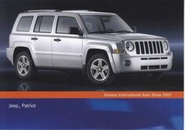 Jeep Patriot, A6-size postcard, Geneva 2007