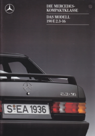 190E 2.3-16 brochure,  28 pages, 08/1987, German language
