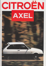 Axel brochure, 8 pages, 08/1986, Dutch language