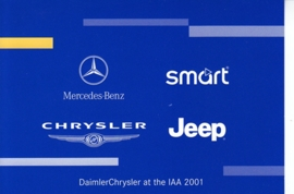 DaimlerChrysler logos, A6-size postcard, IAA 2001
