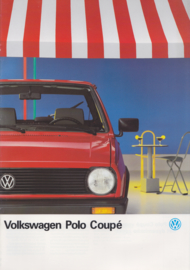 Polo Coupé brochure, A4-size, 20 pages, 01/1990, Dutch language