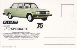 124 Special TC Sedan, standard size, US postcard (# 7544)