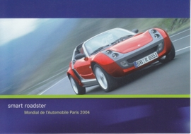 Smart Roadster, A6-size postcard, Paris 2004