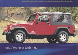 Jeep Wrangler Unlimited, A6-size postcard, NAIAS 2004