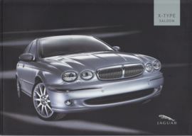 X-Type Saloon brochure, 56 pages, 2005/2006, Dutch language