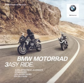 BMW 3ESY Ride leasing all models, sales brochure, 6 glossy pages, 1/2017, Dutch language