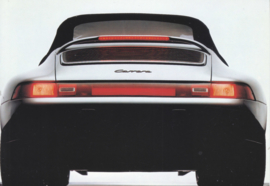 Genuine parts - 911 Carrera rear spoiler postcard,  DIN A6-size, issued mid 1990s