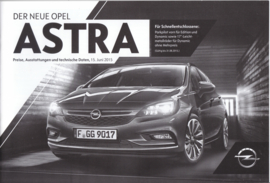 Astra pricelist brochure, 30 pages, 06/2015, German language