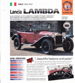 Lancia Lambda 1922 folder, 4 pages, number 35, Hot Cars series, # 12036