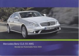Mercedes-Benz CLS 55 AMG, A6-size postcard, Paris 2004