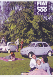 Fiat 500, DIN A6-size, unused, Dutch issue, 2008