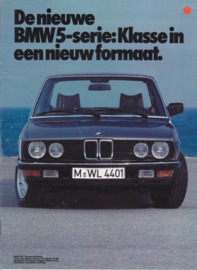 518/520i/525i/528i brochure, 8 pages, 1982, Dutch language