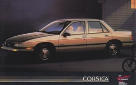Corsica Sedan, US postcard, standard size, 1988